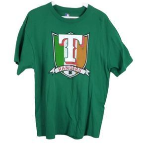 MLB Official Green Texas Rangers Irish Grapic T L